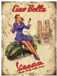 "20010 - Vespa Ciao Bella 12"" x 16"" Vintage Metal Steel Advertising Sign Plaque"